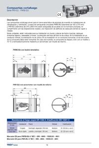 Página correspondiente a la nueva serie de compuertas cortafuego FKRS-EU con marcado CE